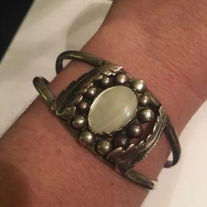 Jewelry - Vintage MOP 925 Cuff Bracelet Sz 6.5